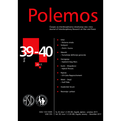 POLEMOS - Journal of Interdisciplinary Research on War and Peace, POLEMOS - časopis za interdisciplinarna istraživanja rata i mira