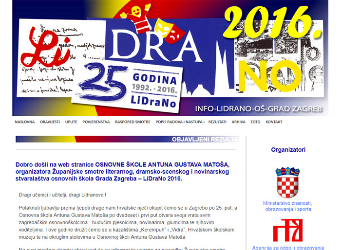 Web page LIDRANO
