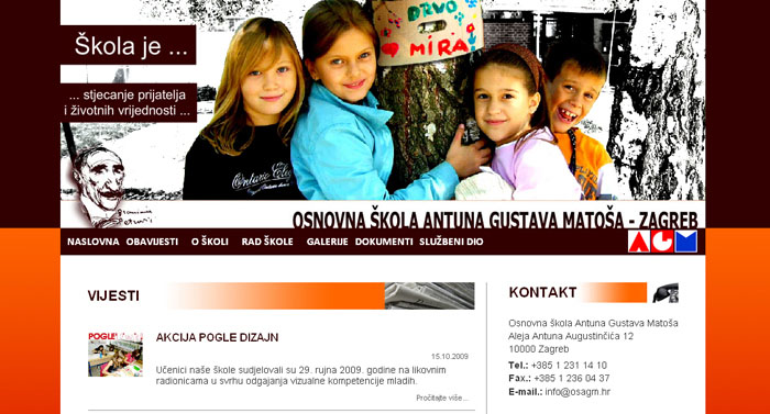 Web page of Primary School