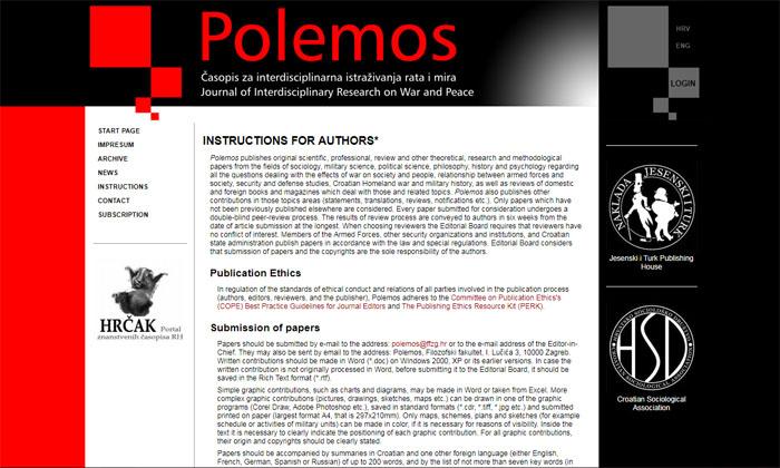 Web page POLEMOS